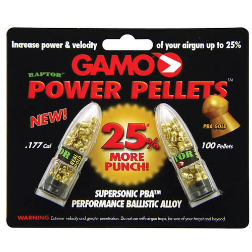 Gamo Precision Ballistic Alloy Raptor, .177 Pellet, Gold Blister Card, 100 Per Pack