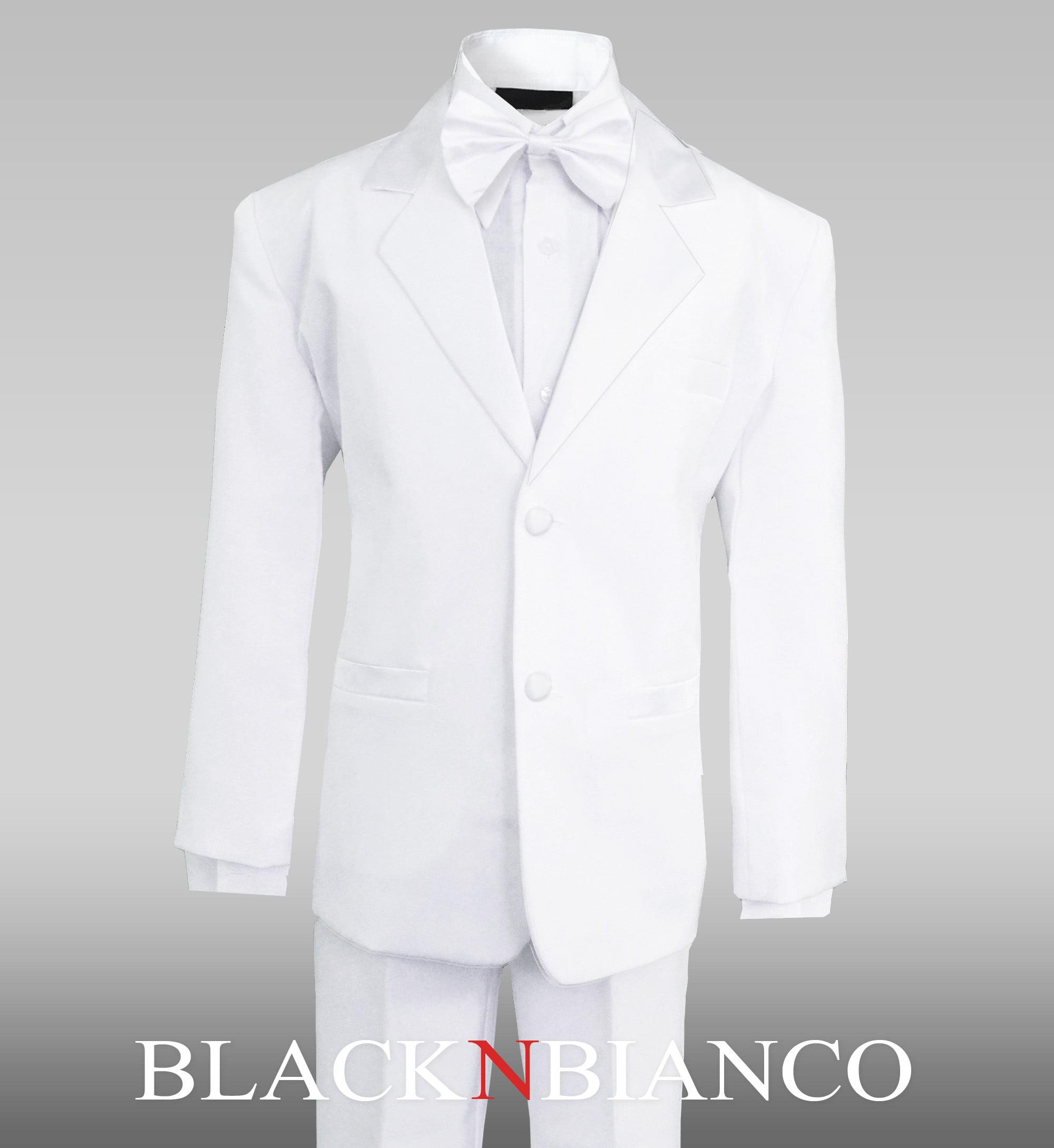 Black n Bianco Boys/' Signature Sateen Button Down Long Sleeve Dress Shirt