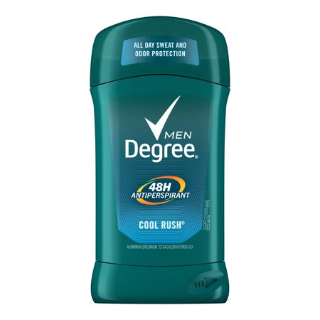 Degree Men Cool Rush 48 Hour Protection Antiperspirant Deodorant Stick, 2.7 oz