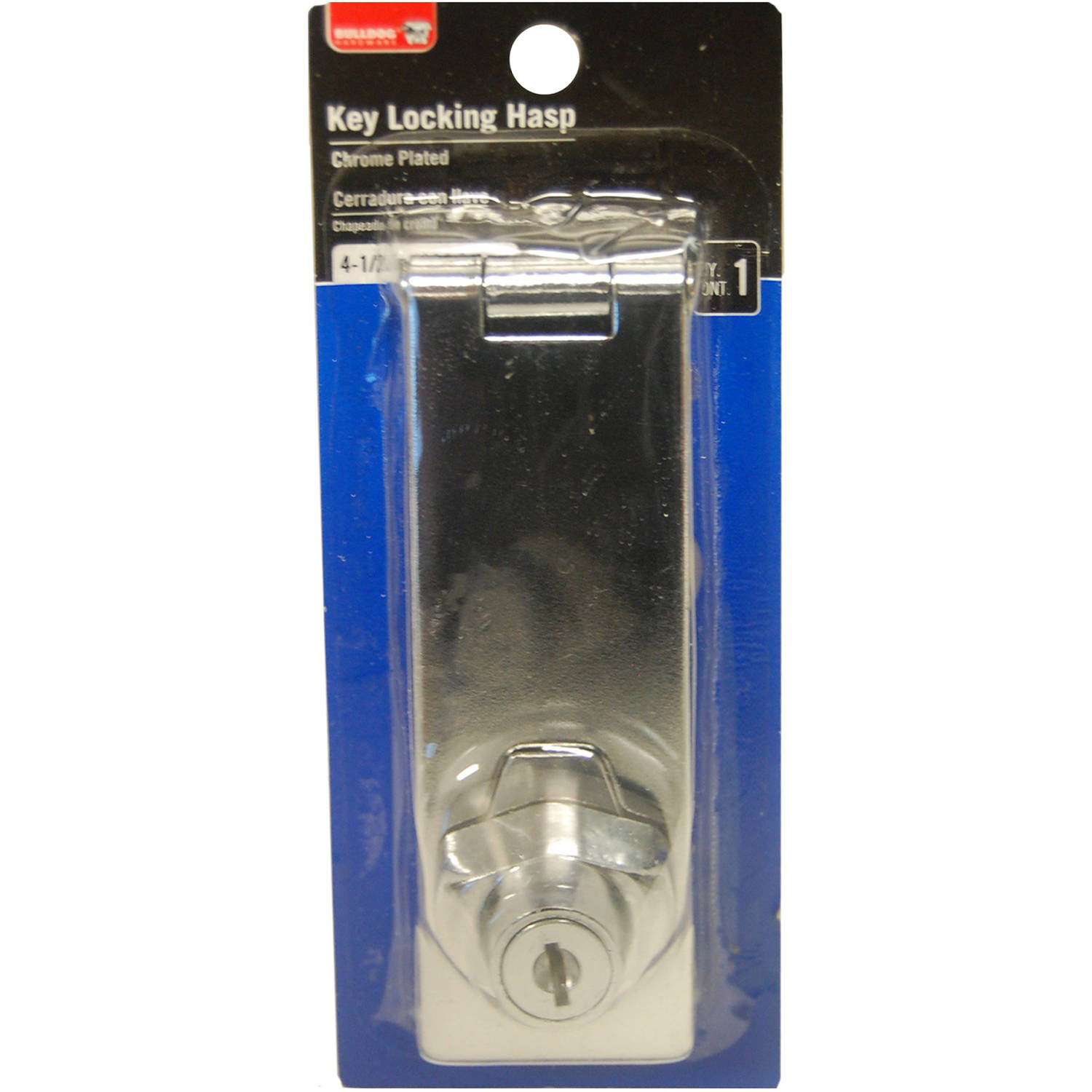"Bulldog Hardware 4.5"" Locking Hasp, Zinc"
