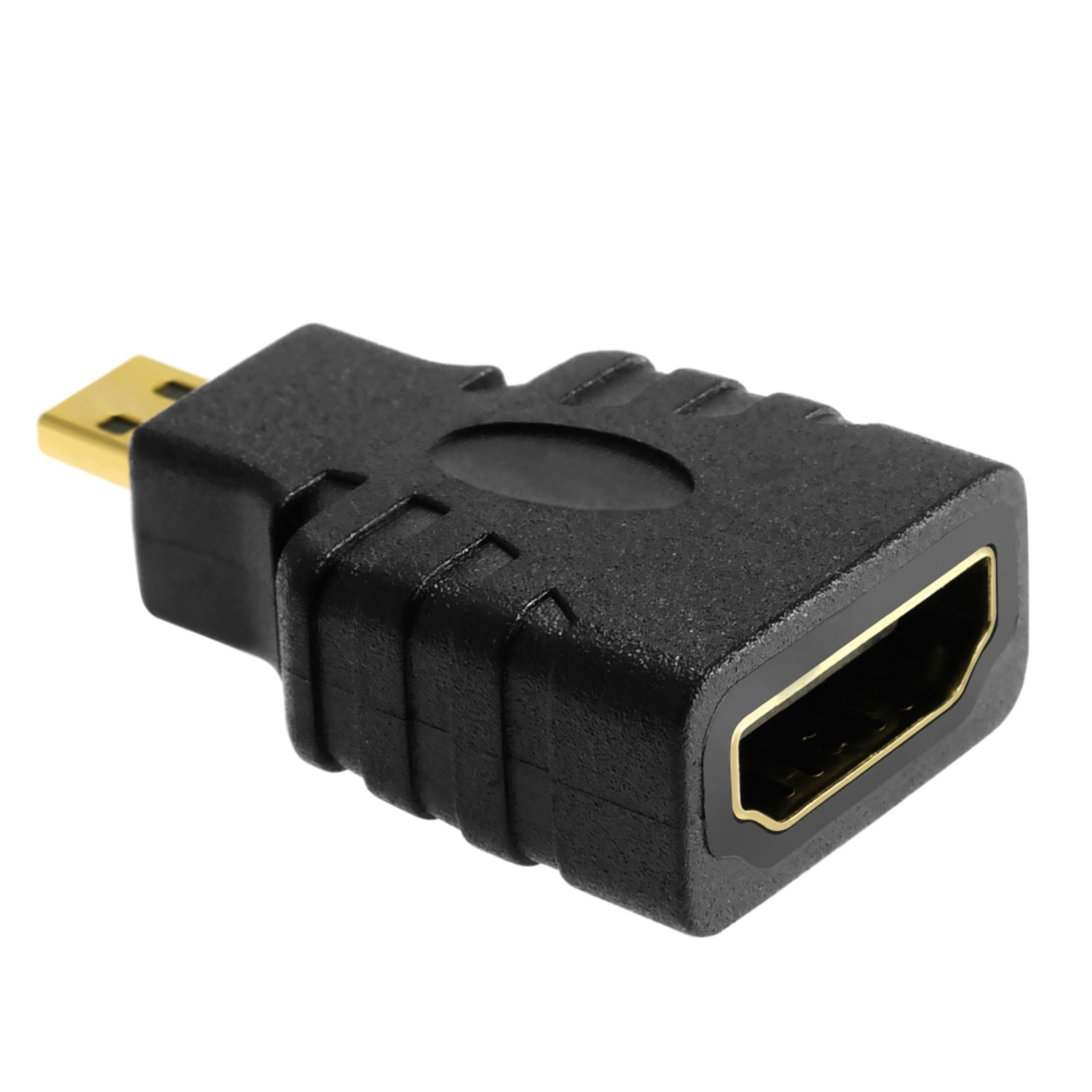 Insten Micro HDMI Connector Male to HDMI Connector Female Port Saver Adapter (Micro HDMI-M to HDMI-F) Micro HDMI Adapter Male to Female