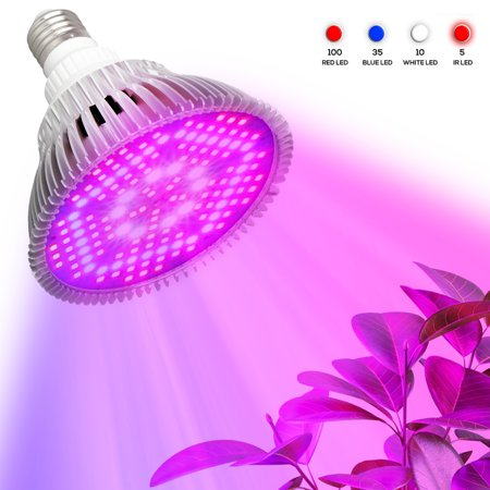 E27 LED Grow Light Bulbs, EEEkit 100W Full Spectrum Plant Growth Lamp, fit for for Indoor Plants Vegetables Seedlings Hydroponics, Indoor Garden Greenhouse and Organic