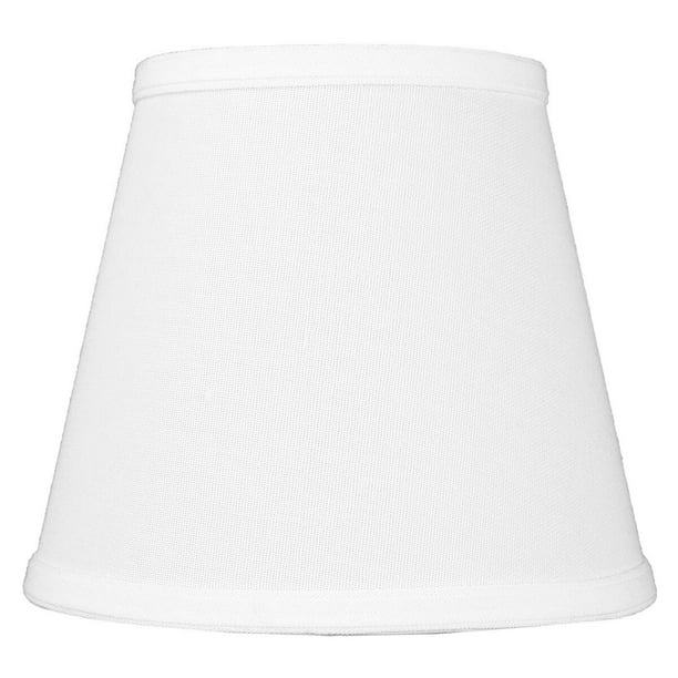 5x8x7 Empire Hardback White Linen Lampshade Clips On Regular Bulb Walmart Com Walmart Com