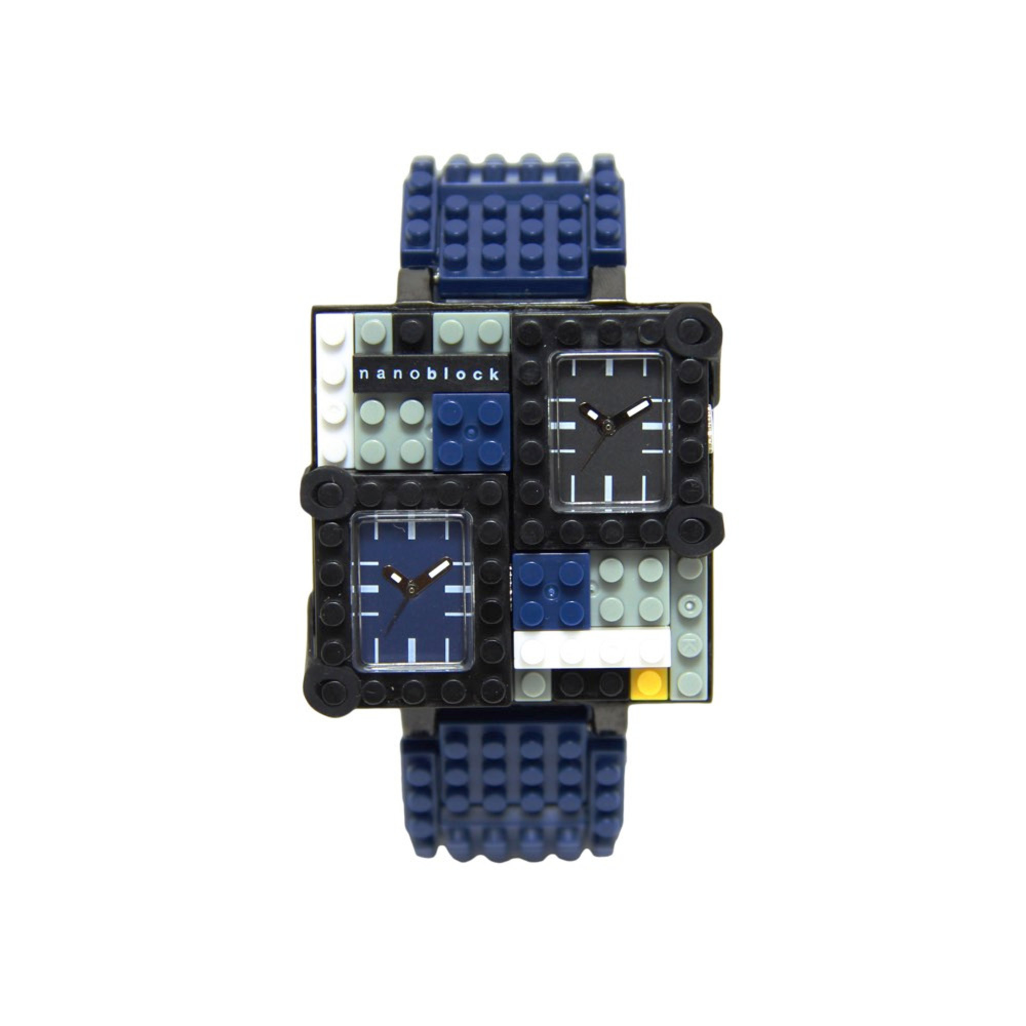 Nanoblocktime Traveler Metal Watch, Dark Blue by Beta Enteprises Inc.