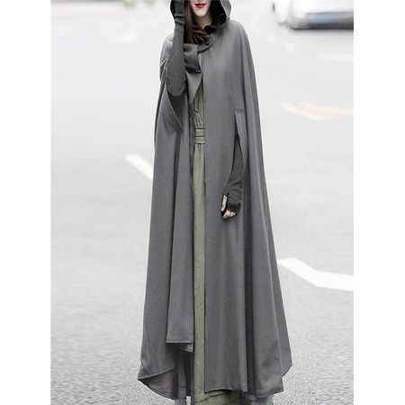 Open Trench - Women Trench Coat Open Front Cardigan Jacket Coat Cape Cloak Poncho Plus
