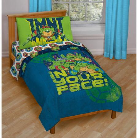 Nickelodeon Teenage Mutant Ninja Turtles 4 Piece Toddler Bedding Set Walmart Com