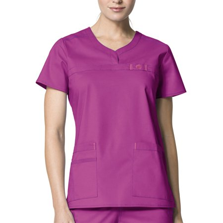 WonderWink WonderFLEX 'Patience' Curved Neck Top Scrub Top