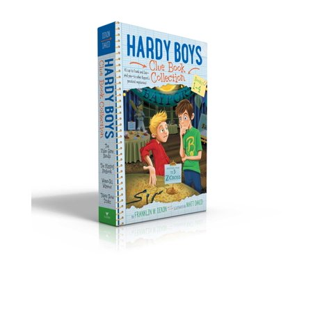Hardy Boys Clue Book Collection Books 1-4 : The Video Game Bandit; The Missing Playbook; Water-Ski Wipeout; Talent Show Tricks - Halloween Trick Or Treat Game Online
