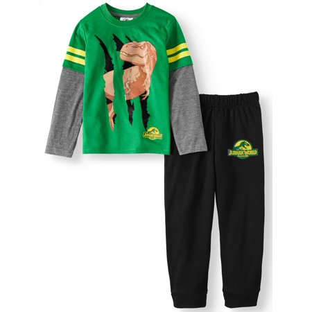 - Long Sleeve Tee And Jogger Outfit Set (Little Boys)