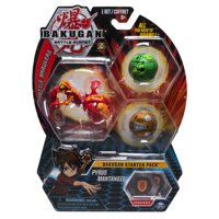 Bakugan Starter Pack 3-Pack, Pyrus Mantonoid, Collectible Action Figures, for Ages 6 and Up