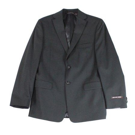 Michael Kors NEW Black Boy's Size 16 Wool Notch Collar Suit Blazer - Notched Collar Suede Blazer