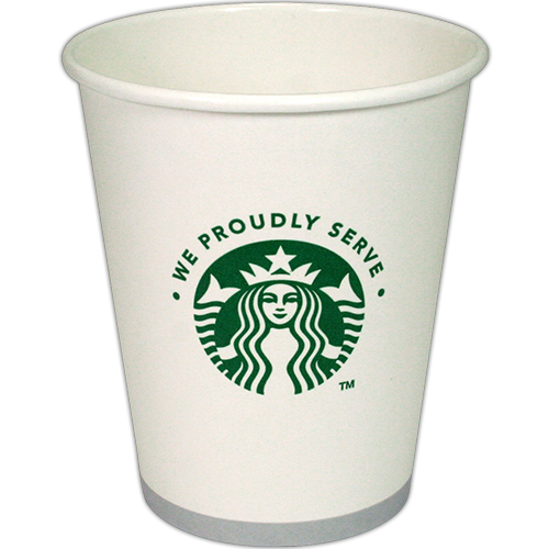 "Authentic Starbucks Logo Printed Paper Hot Cups,  ""Tall"" 12 Ounce Disposable Coffe Cup - 1000/Case"