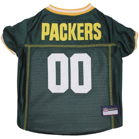 Green Bay Packers Pet Jersey (Pets First NFL Green Bay Packers Premium Dog Jersey, 4 Sizes Available )