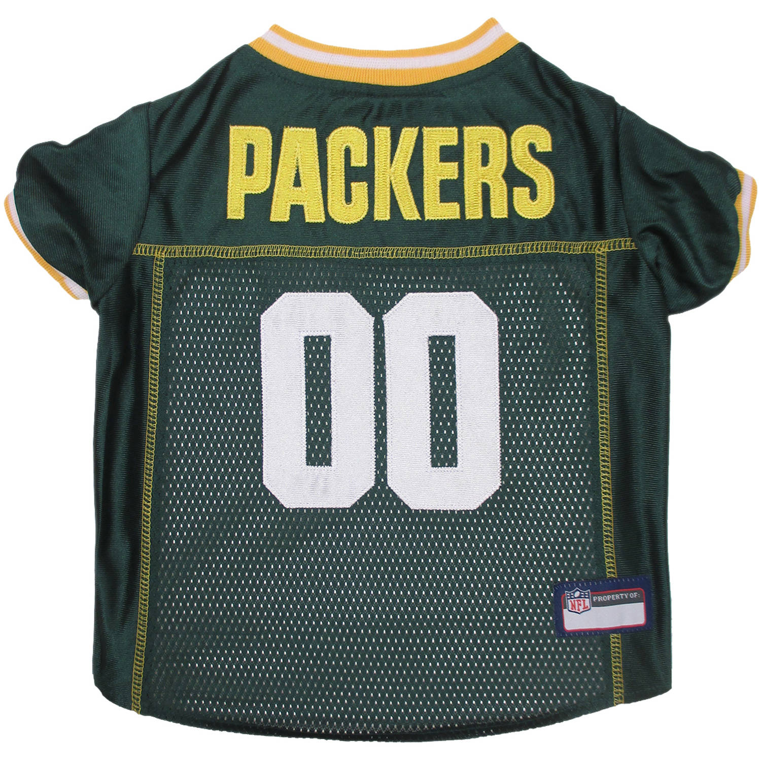Pets First NFL Green Bay Packers Premium Dog Jersey, 4 Sizes Available