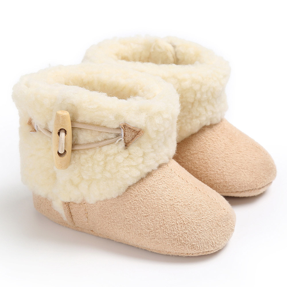 Baby Keep Warm Soft Sole Snow Boots Soft Crib Shoes Anti-slip Toddler Boots