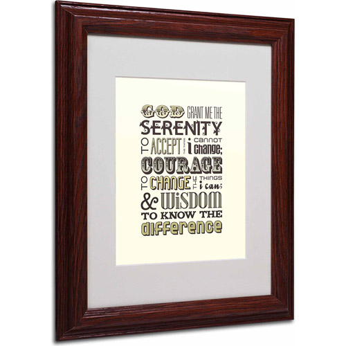 "Trademark Fine Art ""Serenity Prayer I"" Canvas Art by Megan Romo, Wood Frame by TRADEMARK GAMES INC"