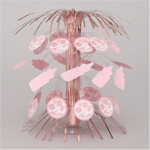 Baby Stitching Pink Foil Mini Cascade Centerpiece