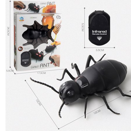 Infrared Remote Control Realistic Fake Ant RC Prank Toy Insects Joke Scary Trick For Party Or Christmas&Halloween Gift