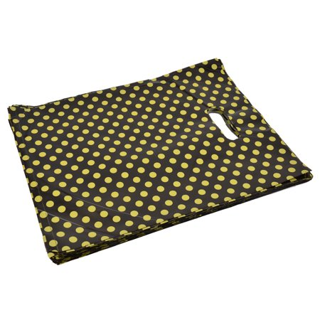 Unique Bargains Shop Store Dots Handbag Tote Carrier Holder Gift Shopping Bag 32.5 x 26cm 90pcs