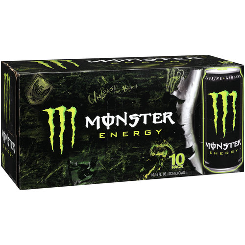 Monster Energy Energy Taurine Plus Ginseng Energy Supplement, 10pk