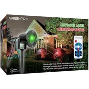 Greenco Outdoor Indoor All Weather Waterproof Star Laser Projector Christmas Decoration Lights With Wirless Remote