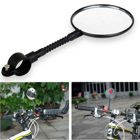 Bike Mirror, Bike Bicycle Handlebar Flexible Rear Back View Rearview Mirror
