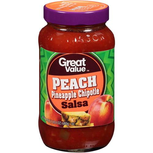Great Value Peach Pineapple Chipotle Salsa, 24 oz