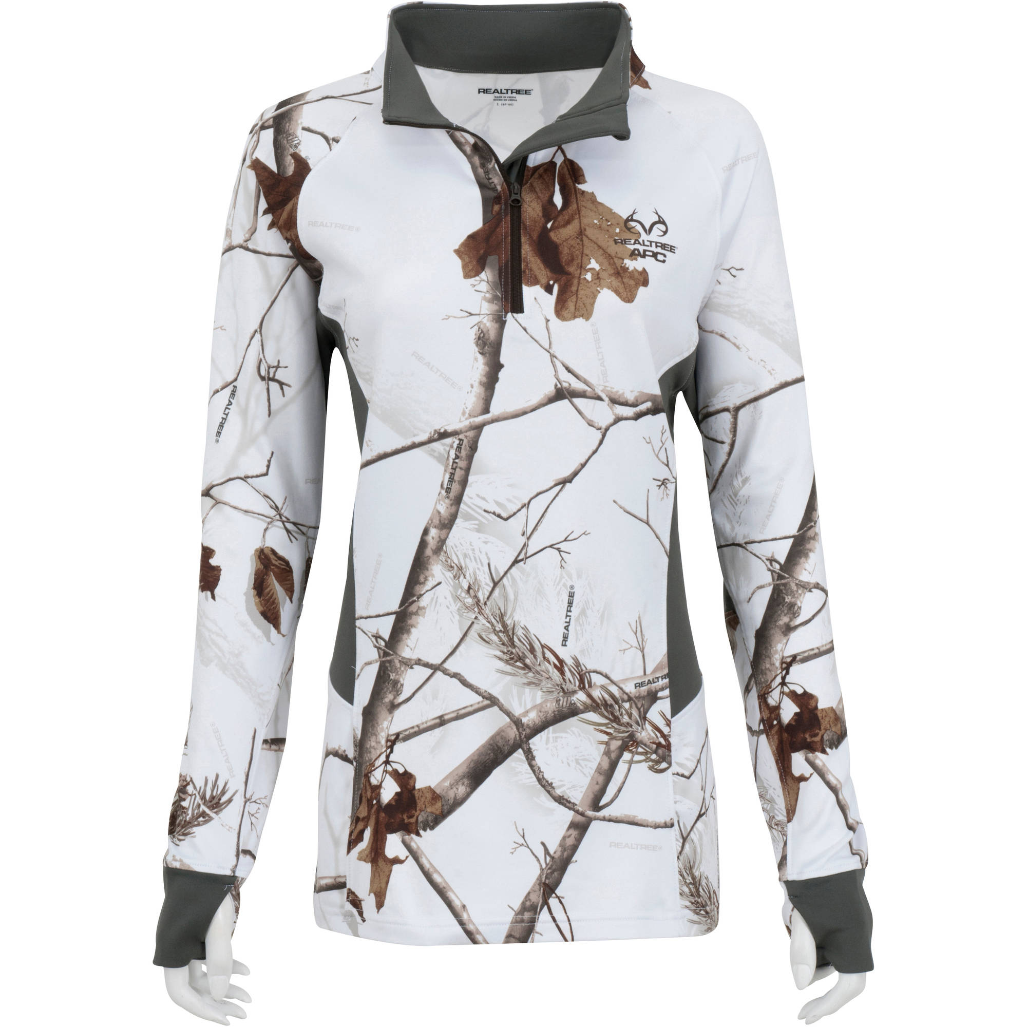 Mossy Oak Women/'s 1//4 Zip Performance Pullover Camo Sweatshirt//Jackets S-XL