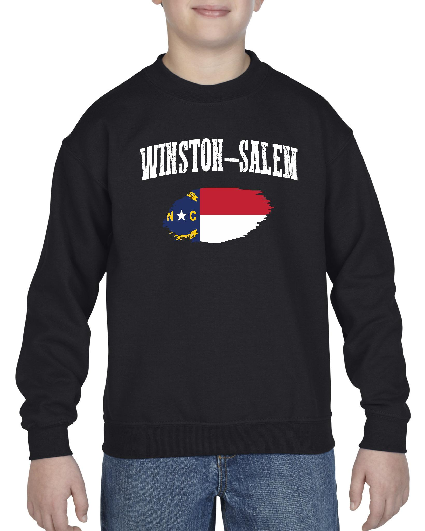 Winston Salem North Carolina Youth Crewneck Sweatshirt