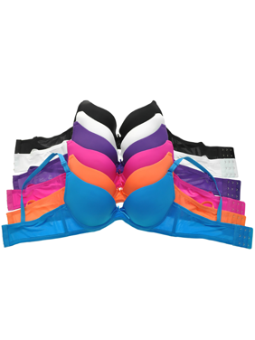 b65203ca4b Product Image Mechaly Women Classic Everyday Neon Colors Demi Cup Bra Set -  6 Pack
