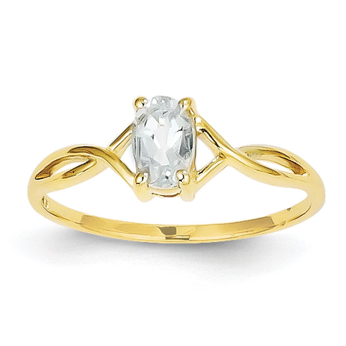 14k Aquamarine Birthstone Ring by Generic