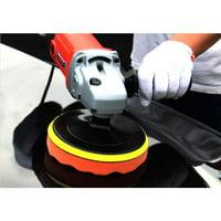EOTVIA Polisher Buffer Pad Set,6Pcs 4  High Gross Polisher Buffer Pad Set + M10 Drill Adapter Car Polishing Wax