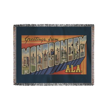 Montgomery Throw (Greetings from Montgomery, Alabama (60x80 Woven Chenille Yarn Blanket))