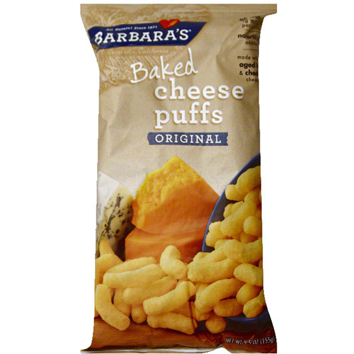 Barbara's Baked Original Cheese Puffs, 5.5 oz (Pack of 12)
