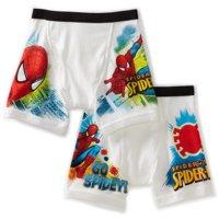 Marvel Spiderman Boys Underwear, 2 Pack Extended Leg Briefs (Little Boys & Big Boys)
