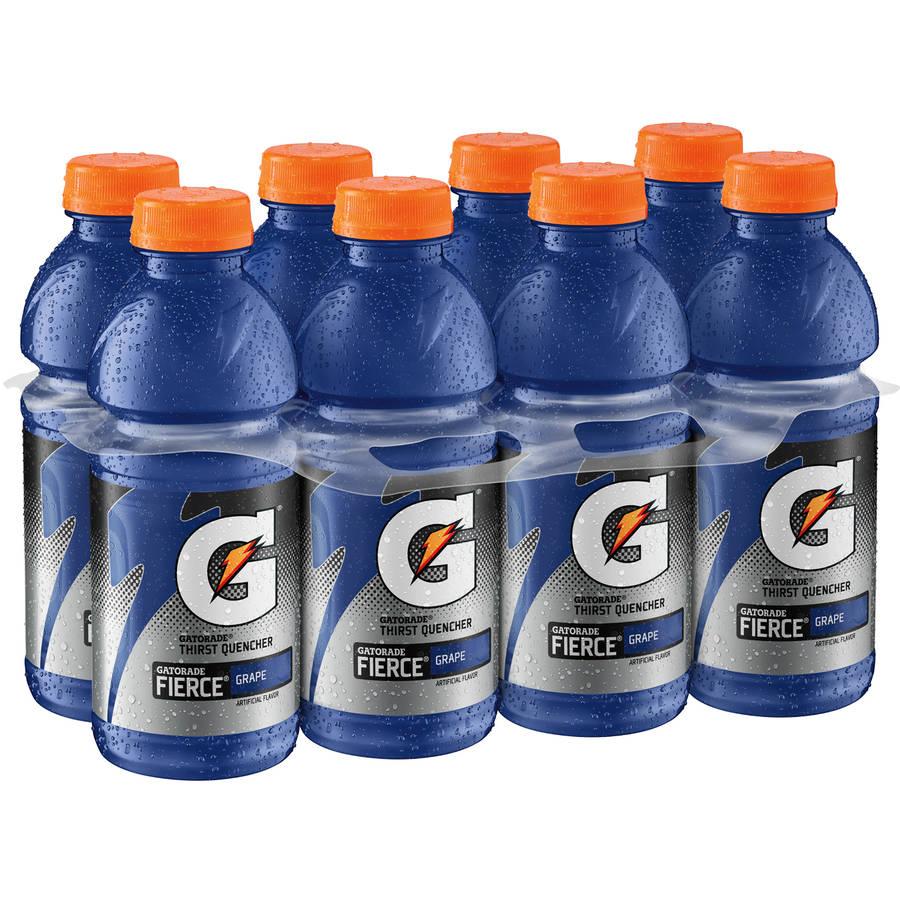 Gatorade Fierce Thirst Quencher Grape Sports Drink, 8 Ct/160 Fl Oz