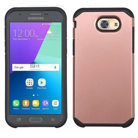 Insten Hard Dual Layer Rubber Silicone Case For Samsung Galaxy J3 (2017) J3 Luna