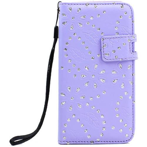 "KIKO Wireless Special Splash Diamond Flip PU Leather Wallet Case with Strap for Apple iPhone 6 Plus, 5.5"""