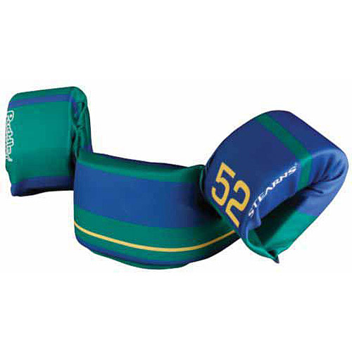 Stearns Puddle Jumper Ultra Child Life Jacket, Green/Blue Stripe