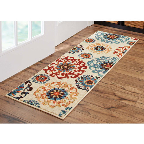 "Better Homes and Gardens Suzani Runner Rug, Multi-Colored, 1'9"" x 5'6"""
