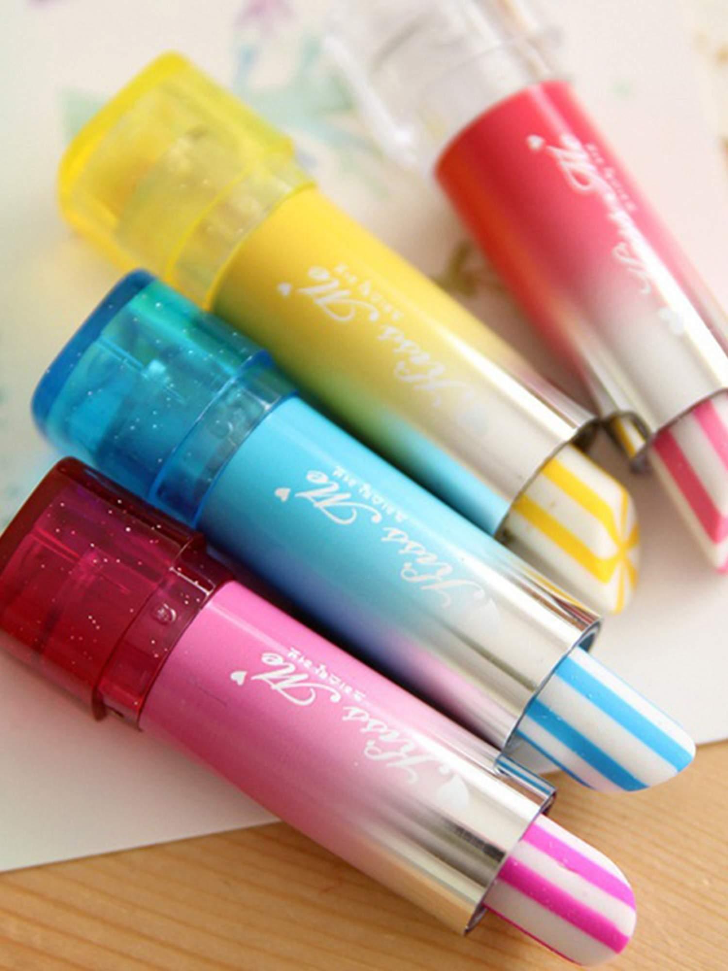 Lipstick Shaped Eraser Aqua Style Me Up
