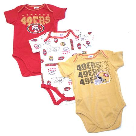 San Francisco 49ers 2017 Boys 3 Piece  Bodysuit Set