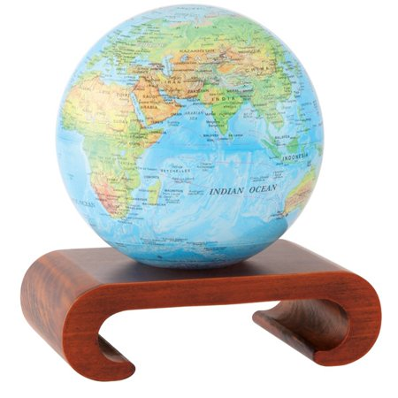 mova 4 5 blue ocean relief map revolving globe with arched natural