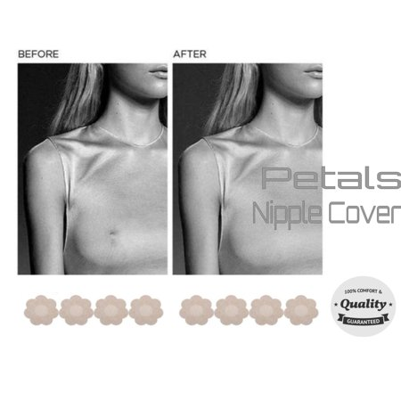 Brest Nipple Cover Petals Stick Nude Skin Tone Satin Comfortable 48 Pair Smok69® Stick Right Around Your Nipple