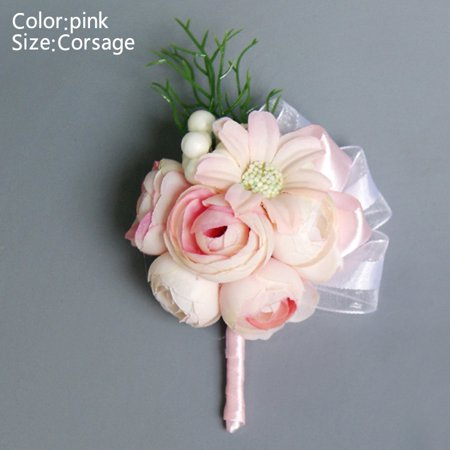 Bride Corsage Artificial Wedding Flower Lace Leaves Decoration Bridesmaid Wrist Flower New