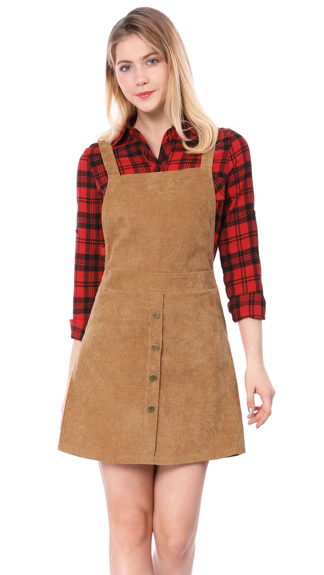 e95b4e66aa1 Brown Corduroy Overall Skirt