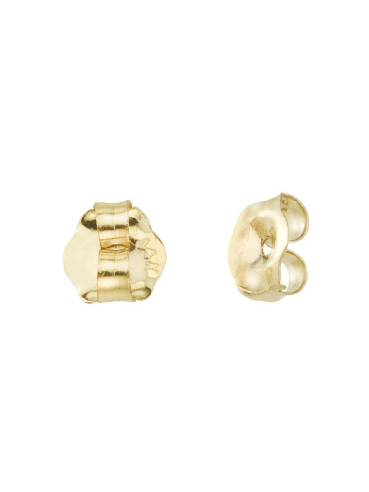 14K Gold Screw Back Earring Backings Only
