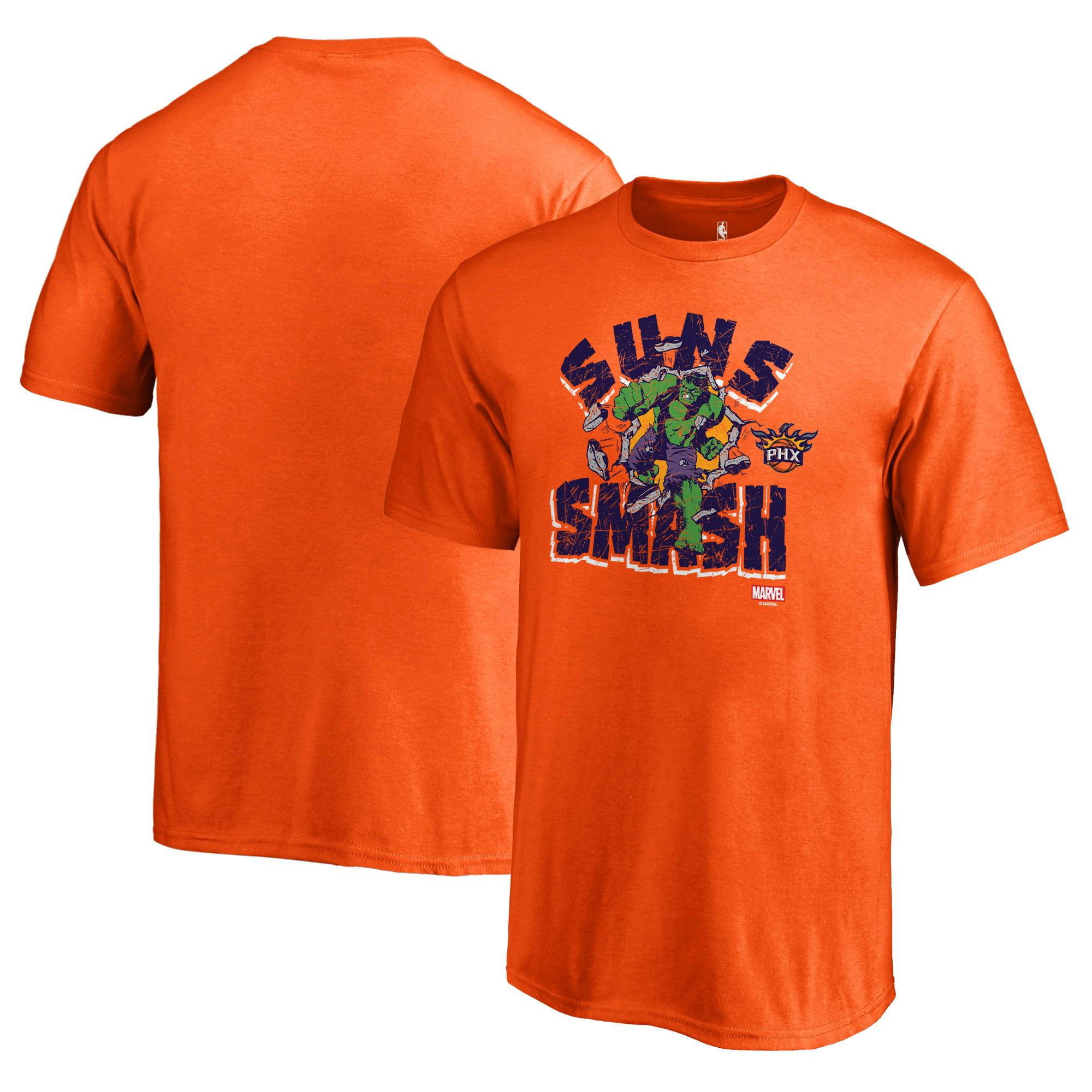 Phoenix Suns Fanatics Branded Youth Marvel Hulk Smash T-Shirt - Orange