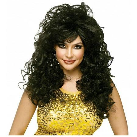 Seduction Wig Adult Costume Accessory Black (Costume Black Wig)