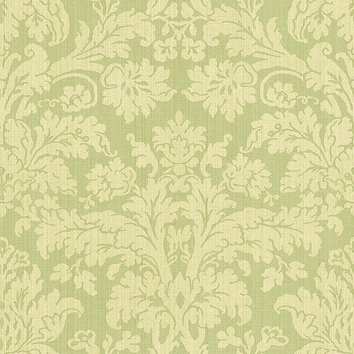 Blue Mountain Damask Wallcovering, Sage Green
